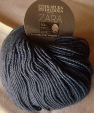 1 Skein Filatura Di Crosa ZARA Yarn Color 6046 Blue 50gr 136yd 100% Merino Italy