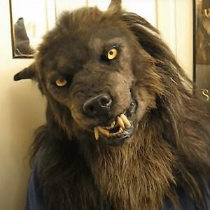Wolf Mask Faux Werewolf Mask Wolfman Masks Latex Costume Prop Halloween Novelty