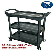 Luxury Compact Utility Trolley 3 Shelf Kitchen/ Restaurant / Catering