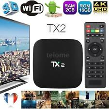 TX2 2Go/16Go Android 6.0 TV BOX RK3229 Quad Core 2.4GHz WiFi 4K 3D Movies Media