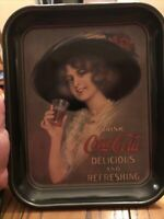 Vintage Coca-Cola Tray  1912 Hamilton King Girl  Repro 13 1/4 in. X 10 1/2 in.
