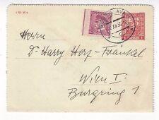1936 Bratislava Czechoslovakia Uprated Stationery 1k Lettercard Vienna Austria