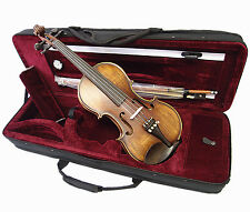New Antique Style 1/2 Hand-Made Violin +Bow +Rosin +Square Case <Limited>