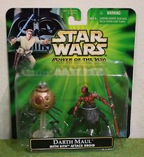 STAR WARS CARDED POWER OF THE JEDI DARTH MAUL with SITH ATTACK DROID