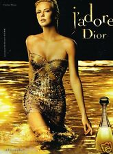 Publicité advertising 2010 Parfum J'adore Dior avec Charlize Theron