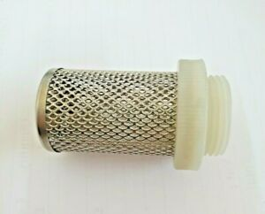 Strainer-Suction and Sump Filter, Stainless Steel Mesh 1200mu BSP Nylon Threads