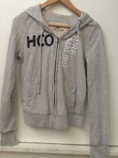 Hollister Gray Full Zip Hoodie Sweatshirt Surf Malibu Womens Juniors Sz L