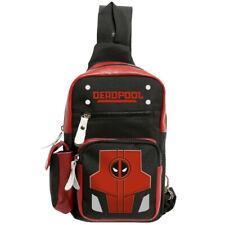 Marvel Deadpool Shoulder Bag Backpack Crossbody Chest Cosplay Casual Travel Bag