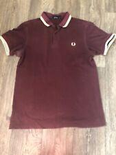Fred Perry Maroon Polo Shirt Medium  Mod  Classic