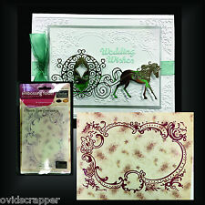 Frame embossing folders HEARTS EASE EMBROIDERY Couture Creations folder CO724387