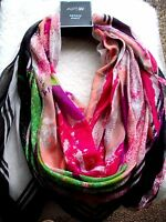 New Large Scarf Wrap Abstract Wearable Art Multi Colorful MOD BOHO Hippie Gift