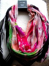 Scarf Wrap Large Wearable Art Abstract Bright Multi Colors MOD Hippie BOHO New