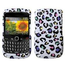 W Rainbow Leopard Hard Case Cover BlackBerry Curve 8530