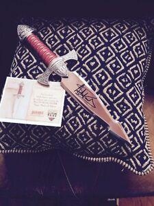 Highlander Dagger signed by Adrian Paul
