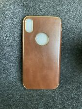 iPhone X/XS Leather and Gold Case