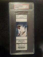Derek Jeter 3000th Hit ( Home Run, Goes 5 For 5) Full Ticket PSA 8 NM/Mint