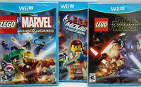 Lot of 3 Nintendo WiiU Wii U Lego Star Wars,Lego Movie and Marvel Super Heroes