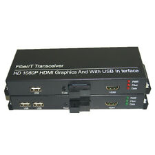 HD 1080P HDMI Extender Converters with 2 KVM USB 2.0 HDMI signal over Fiber SC