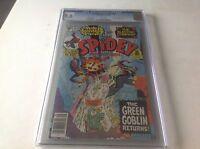 SPIDEY SUPER STORIES 48 CGC 9.6 WHITE PG SPIDER-MAN GREEN GOBLIN LUKE CAGE STAMP