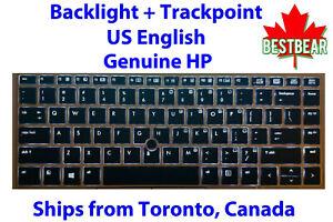 Genuine Backlit + Trackpoint Keyboard HP EliteBook Folio 9470m 9480m US English