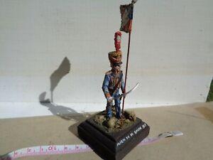 Lasset or Stadden, Napoleonic Garde & flag 54mm lead painted by Frank Burns, JJ
