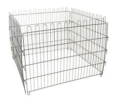 "4 Panel Pet Playpen Dog Cat Rabbit Exercise Pen Fence Kennel Cage 28"" Extendable"
