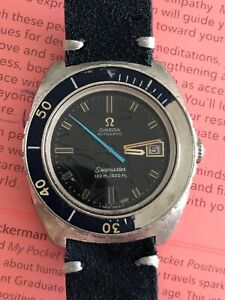 Vintage Omega Seamaster 120 Automatic Date Stainless Watch 166.088