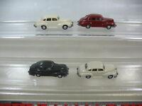 L49-0,5# 4x Wiking H0 Modelle/Modellautos, 110, Opel Kapitän 51, TOP