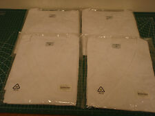 (4) White Lab Smocks, Unisex, 2XL !92B!