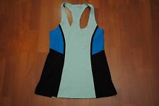 LULULEMON ATHLETICA BLUE WORK OUT SHIRT TANK TOP 4 SMALL