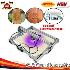 65x50 CNC Laser Graviermaschine DIY Fräsmaschine für Kunststoff Holz 2500mW