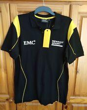 Renault F1 Team Official Replica Mens Polo Shirt BLACK F1 Merchandise - Size L