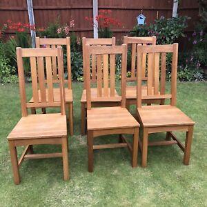 Set Of Six Oak Kitchen Chairs