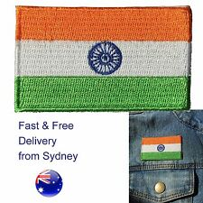 India flag iron on patch - Indian Tiraṅgā Bharata iron-on patches embroidery