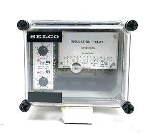 Selco 601 E 2300 Insulation monitoring relay terminal block