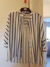 Select Off White Stripe Shirt Blouse Size 6