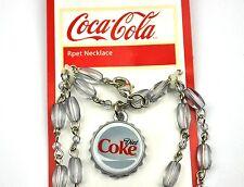 COCA COLA Dieta COKE Cadena Collar Collar TAPA DE BOTELLA BOTTLE CAP Estilo