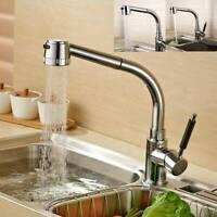 Küchenarmatur Spültischarmatur Wasserhahn Mischbatterie + Ausziehbar 360° Brause