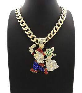 """MARIO PENDANT WITH 20"""" 11mm CUBAN CHAIN"""