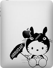 HELLO KITTY IN TOTORO COSTUME iPAD VINYL DECAL STICKER