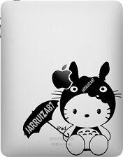 HELLO KITTY IN TOTORO COSTUME iPAD VINYL DECAL STICKER