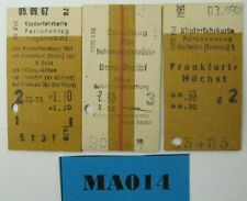 Germany Railway Tickets x 3 Ref MA014