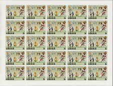 """LIBERIA #886-891 IMPERF SHEET OF 25 COMPLETE SET WORLD CUP """"ESPANA 82"""" WL4617"""