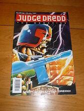 JUDGE DREDD THE MEGAZINE Comic - Series 1 - No 10 - Date 07/1991 - UK Comic