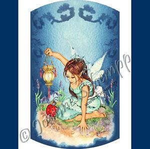 NAIL ART DECAL Fairie STICKERS WATER SLIDE TRANSFER FULL Ladybug Fairy Schempp