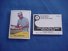 1979 TCMA Baseball Card Lot - MEL BARROW / Chicago IL / Harlan High School
