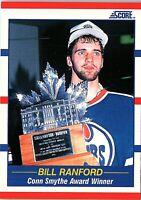 1990 Score CONN SMYTHE Trophy Trading Card of BILL RANFORD #358
