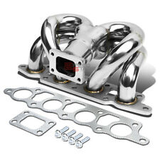FOR 00-04 FORD FOCUS ZX T25 RAM HORN STAINLESS STEEL TURBO MANIFOLD EXHAUST KIT