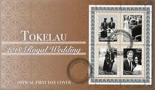 Tokelau 2018 FDC Prince Harry & Meghan Royal Wedding 4v M/S Cover Royalty Stamps