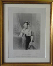 Grand Duchess Olga of Russia Queen of Württemberg Antique Engraving by Paul Peti
